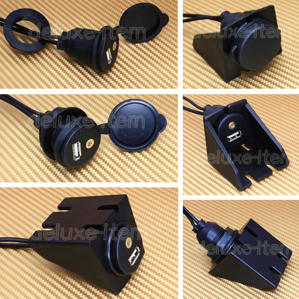Mllse 3 5mm Aux Extension Cable Lead Mounting Panel Dash: Car Dashboard Flush Mount USB 3.5mm 1/8 AUX Extension